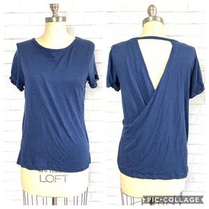 Chaser open back blue shirt size S 🥓